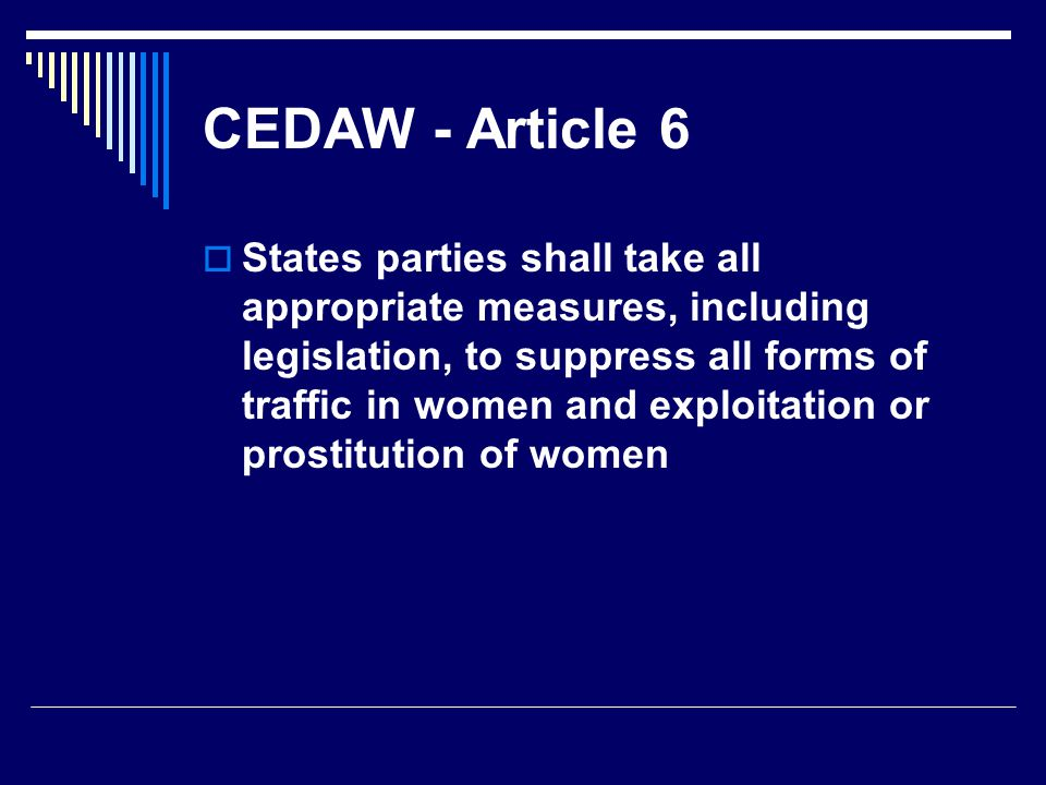 CEDAW - Article 6