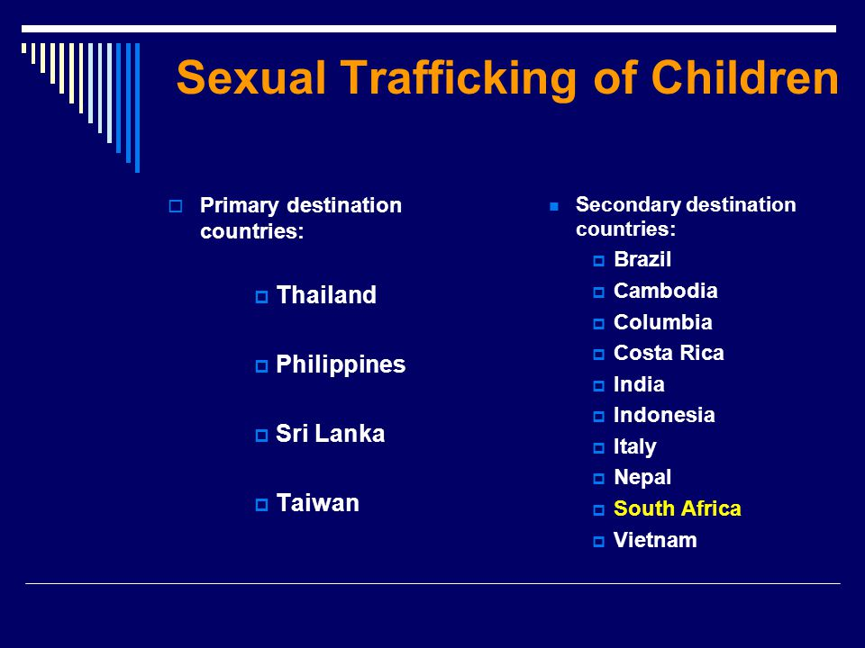 Sexual Trafficking of Children