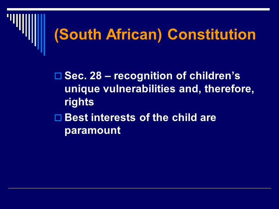 (South African) Constitution