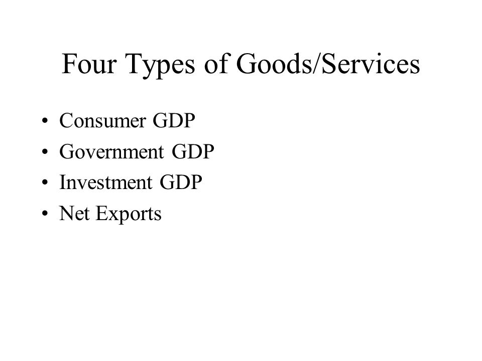 Four Types of Goods/Services