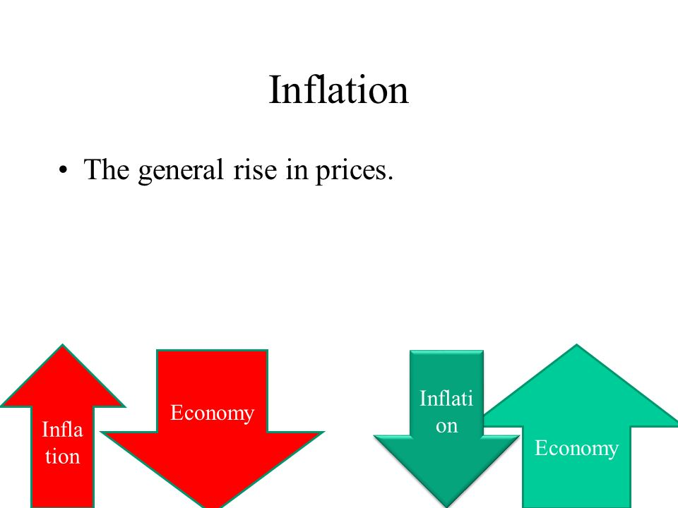 Inflation The general rise in prices. Inflation Economy Inflation