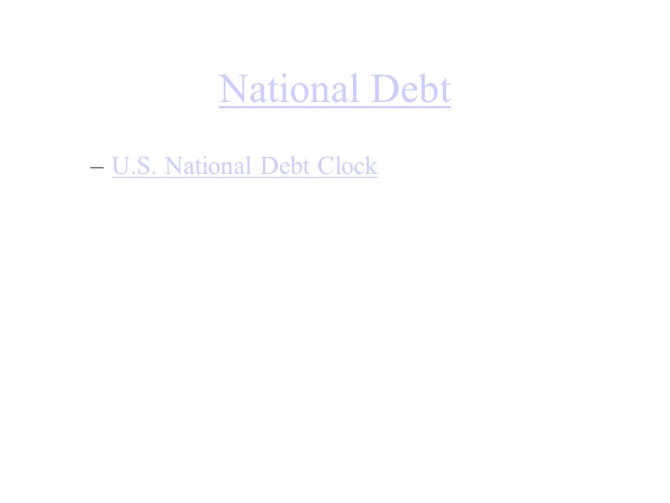 National Debt U.S. National Debt Clock