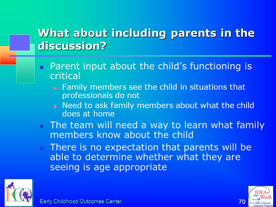 What about including parents in the discussion
