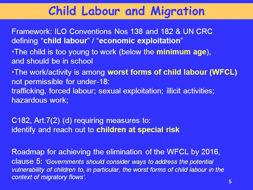 Child Labour and Migration