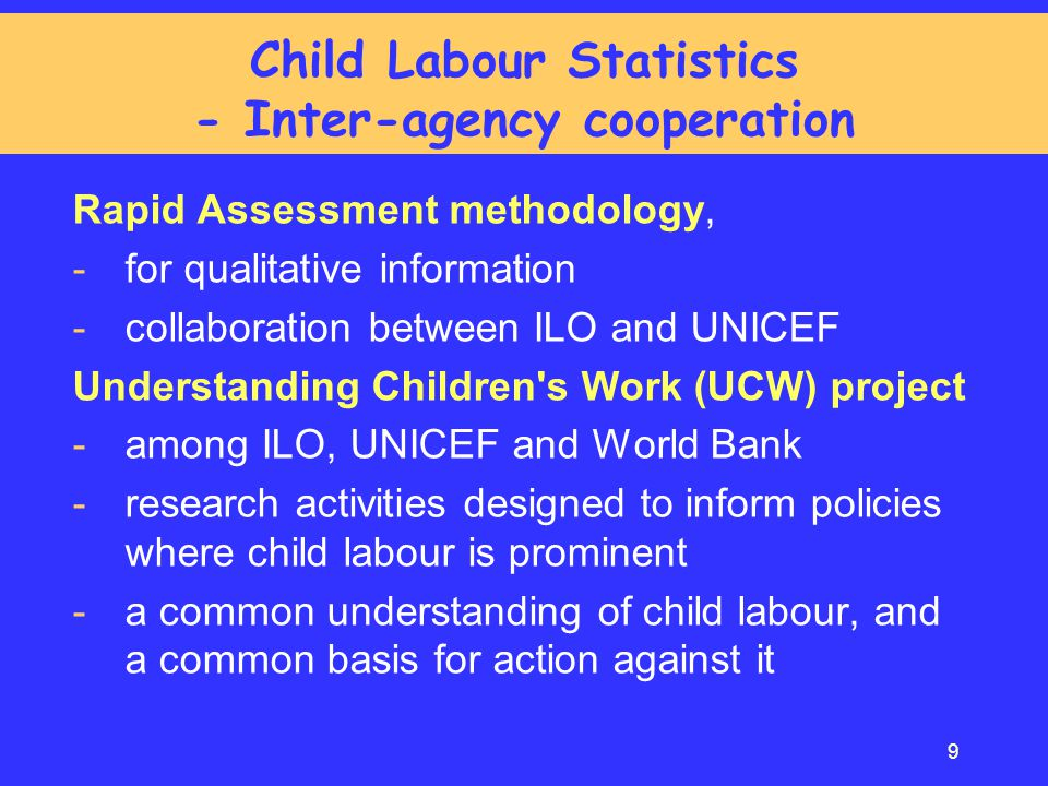 Child Labour Statistics - Inter-agency cooperation