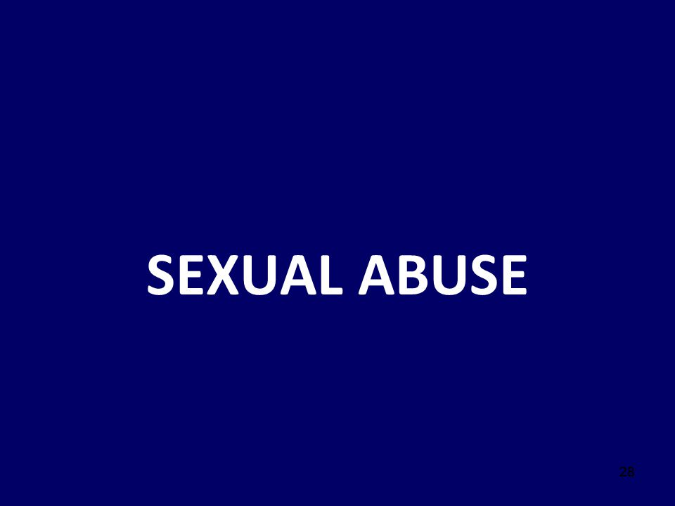 SEXUAL ABUSE Script: