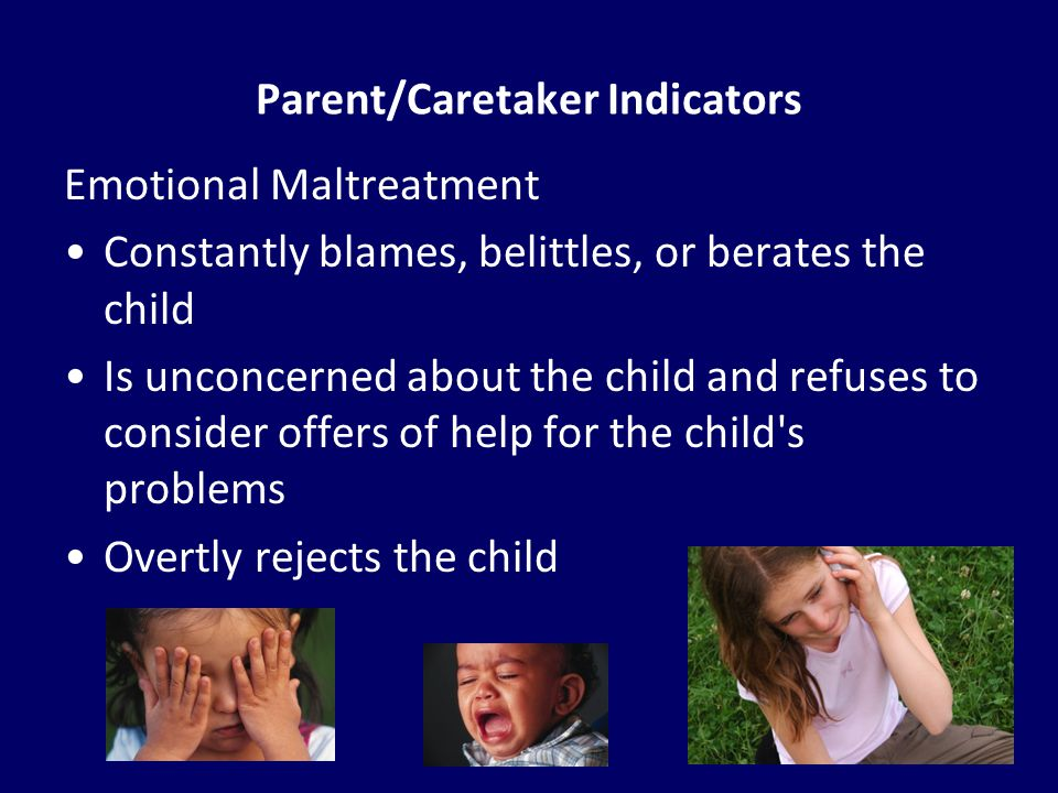 Parent/Caretaker Indicators
