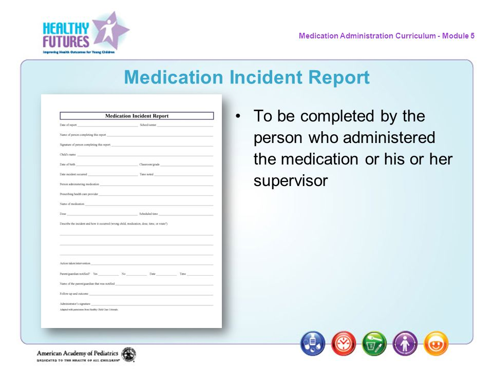 Medication Incident Report