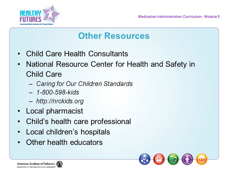 Other Resources Child Care Health Consultants