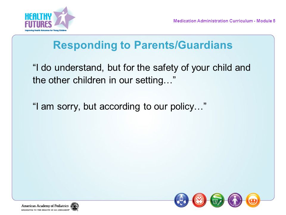 Responding to Parents/Guardians
