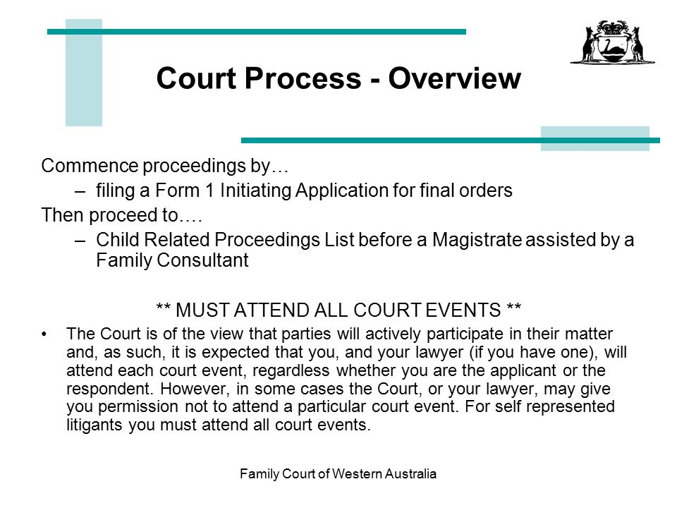 Court Process - Overview