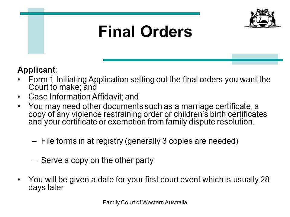 Court dates in Australia