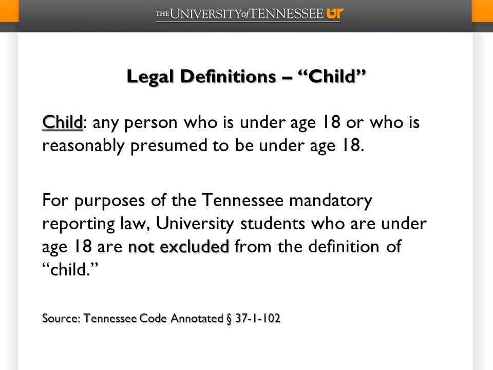 Legal Definitions – Child