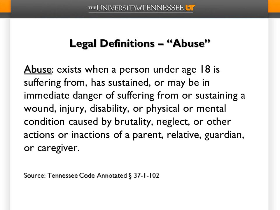 Legal Definitions – Abuse