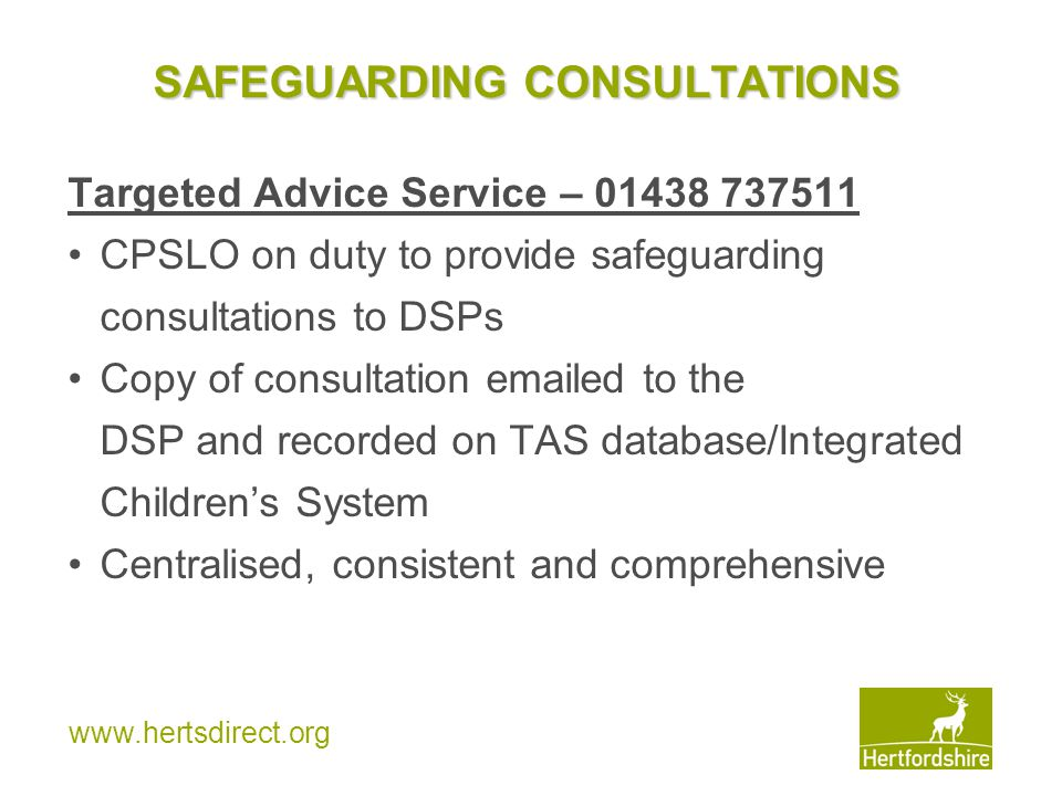 SAFEGUARDING CONSULTATIONS