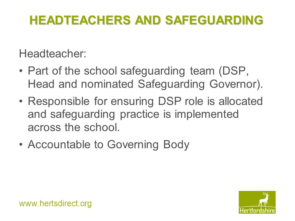 HEADTEACHERS AND SAFEGUARDING