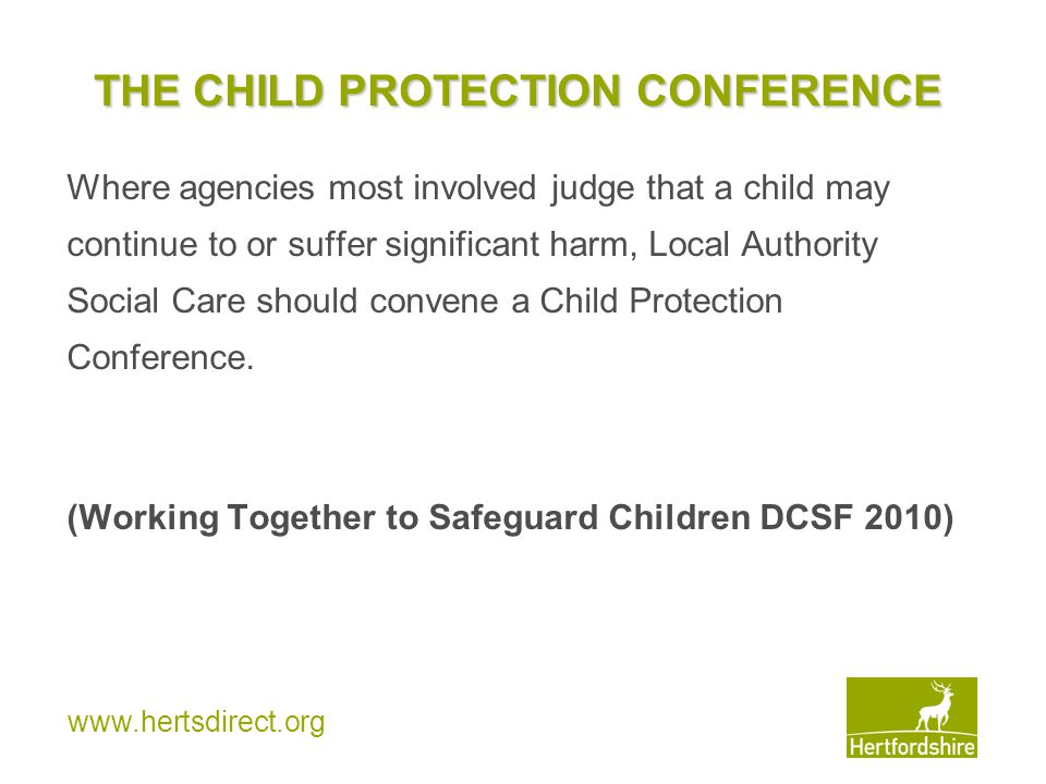 THE CHILD PROTECTION CONFERENCE