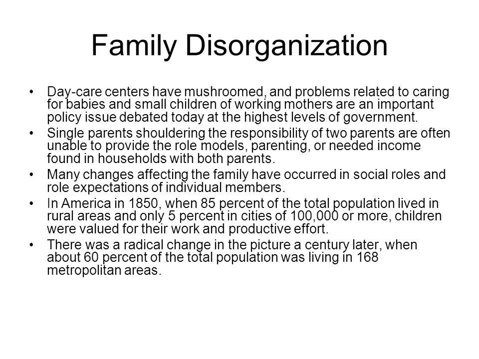 family disorganization definition