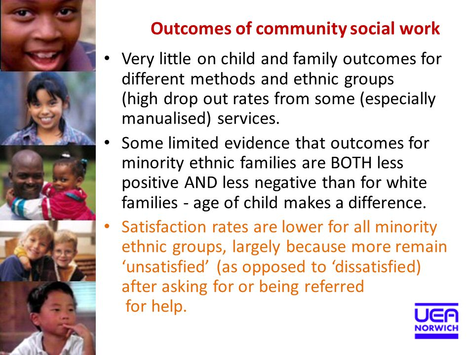 Outcomes of community social work