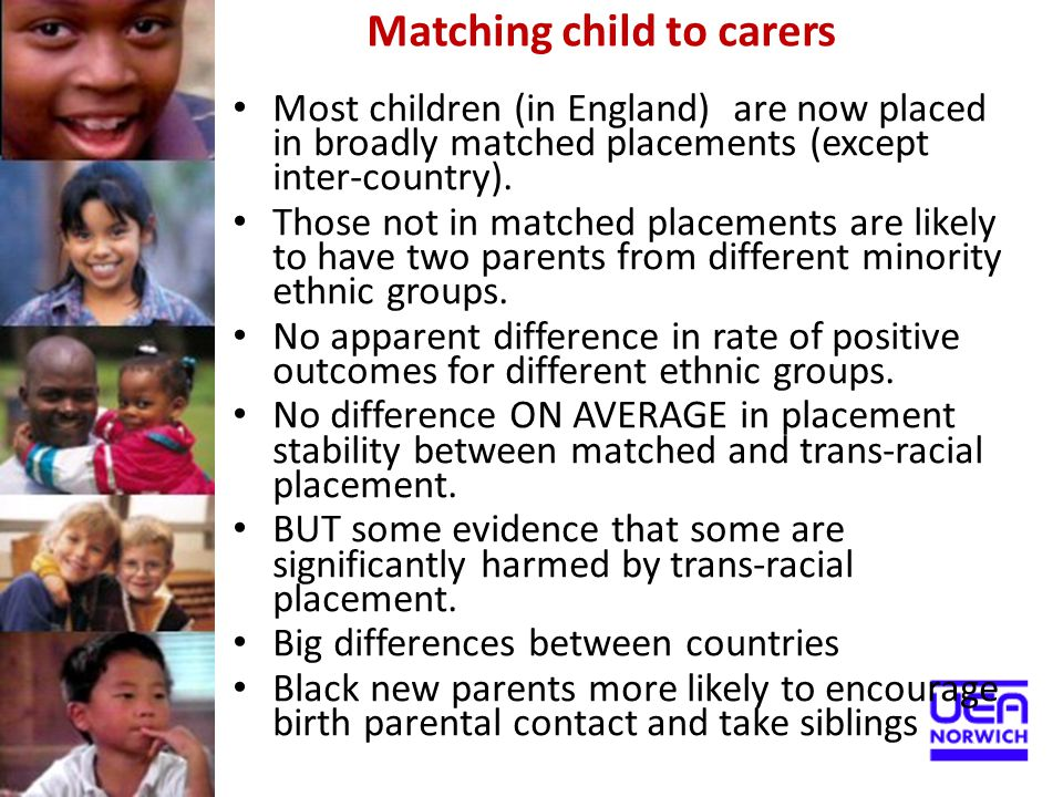 Matching child to carers