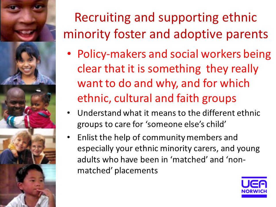 Recruiting and supporting ethnic minority foster and adoptive parents