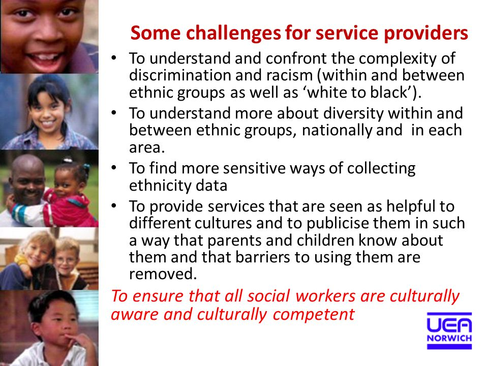 Some challenges for service providers