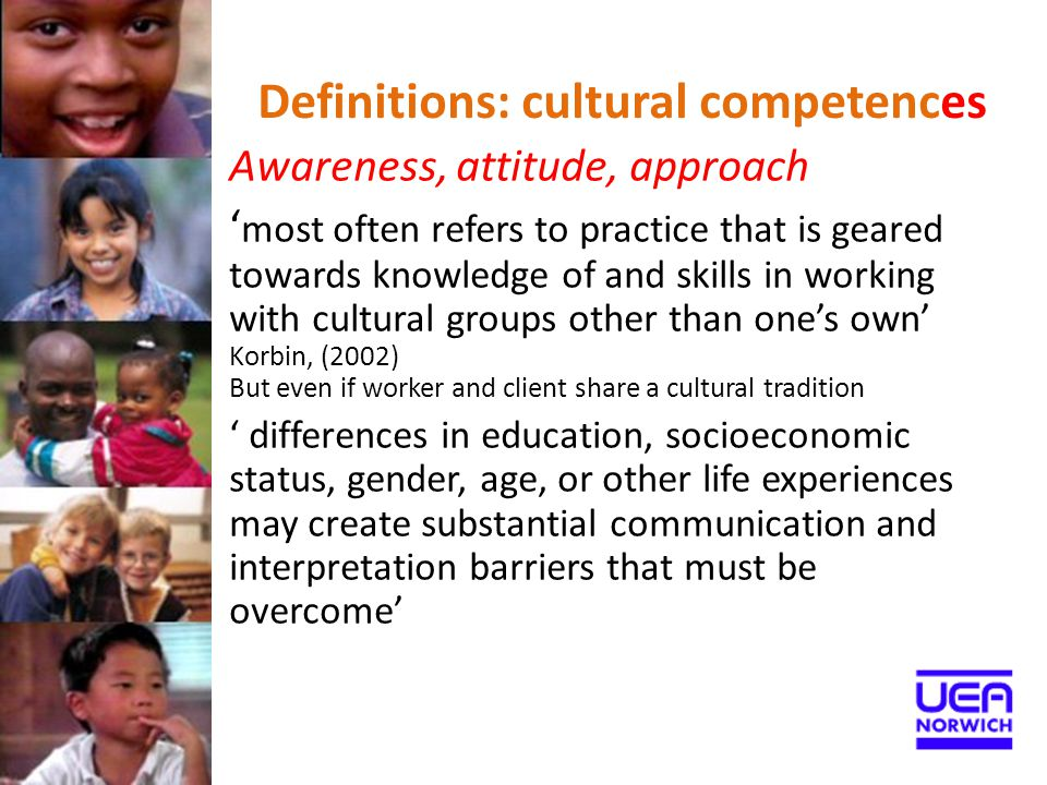 Definitions: cultural competences