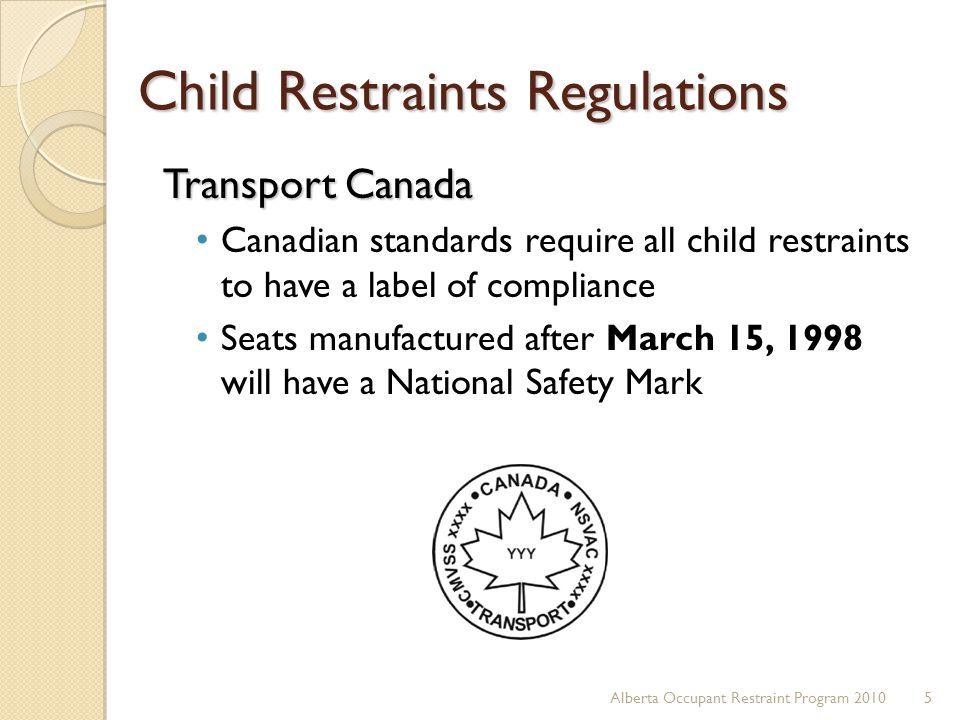 Canada Car Seat Regulations Expiry