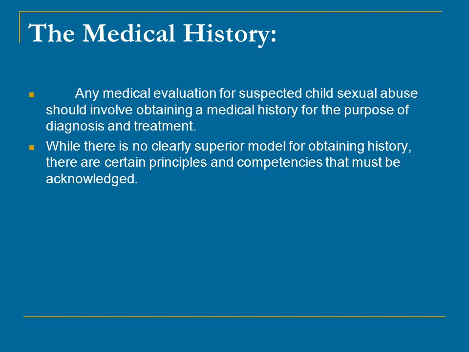 The Medical History: