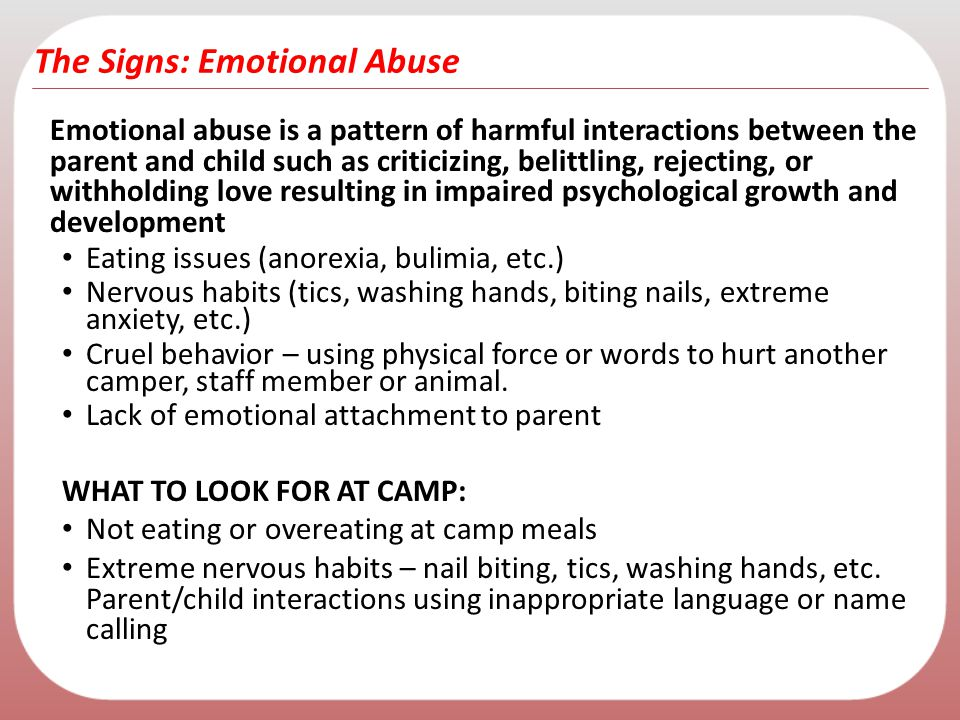 The Signs: Emotional Abuse
