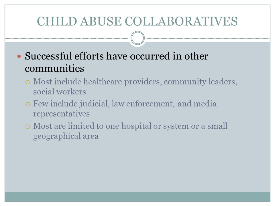 CHILD ABUSE COLLABORATIVES
