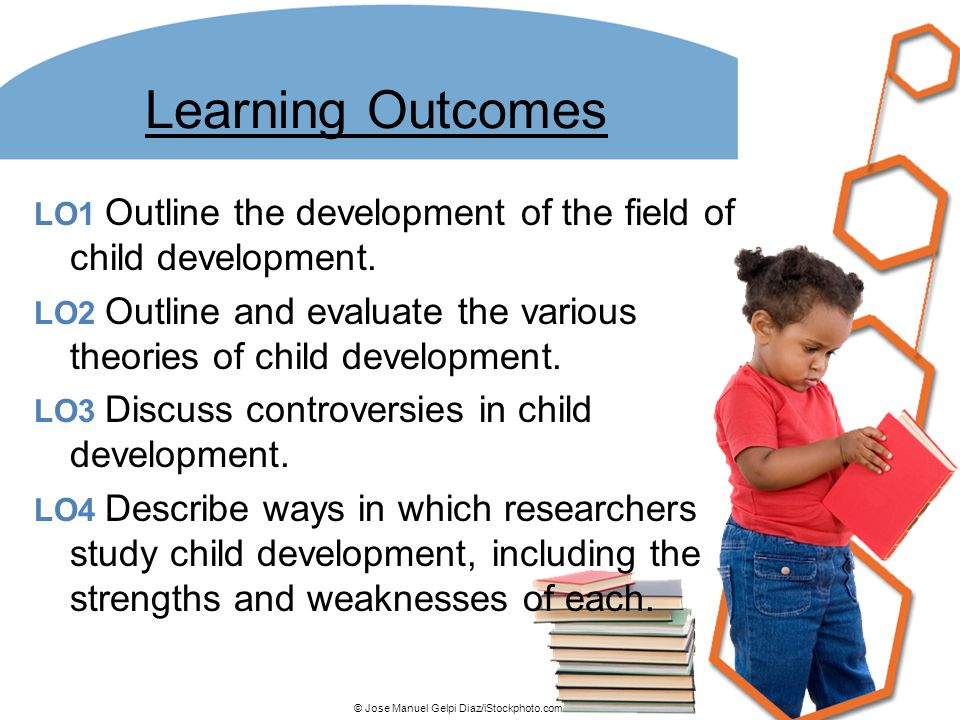 Learning Outcomes LO1 Outline the development of the field of child development. LO2 Outline and evaluate the various theories of child development.