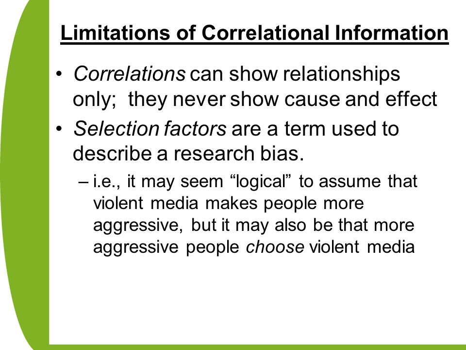 Limitations of Correlational Information