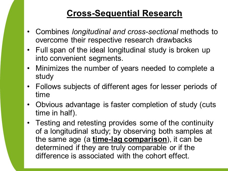 Cross-Sequential Research
