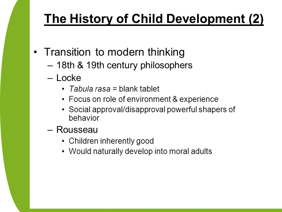 The History of Child Development (2)