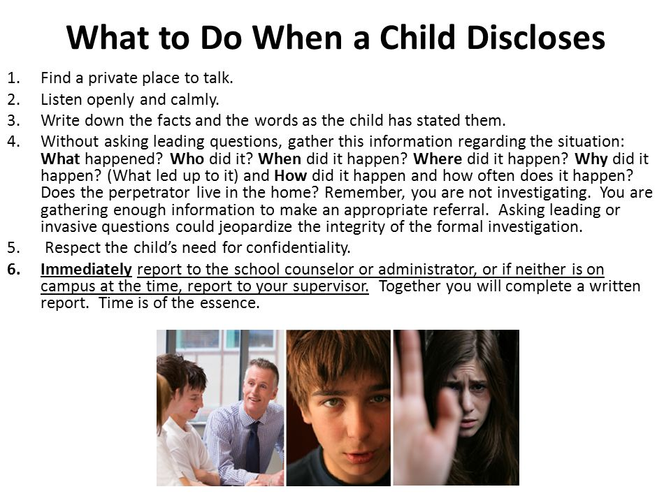 What to Do When a Child Discloses