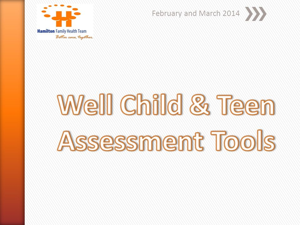 Well Child & Teen Assessment Tools