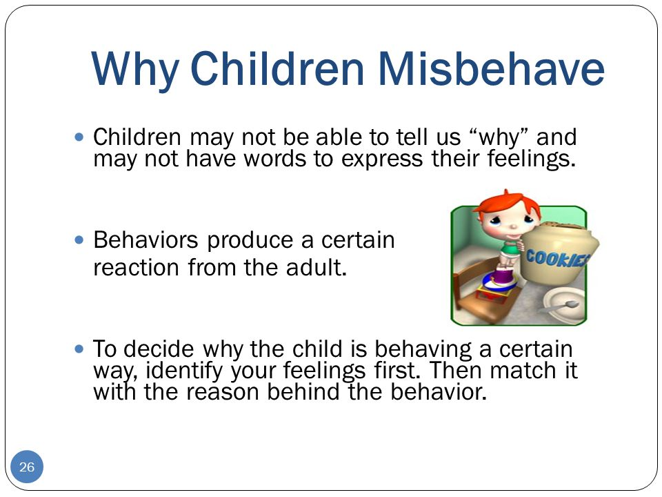 Why Children Misbehave