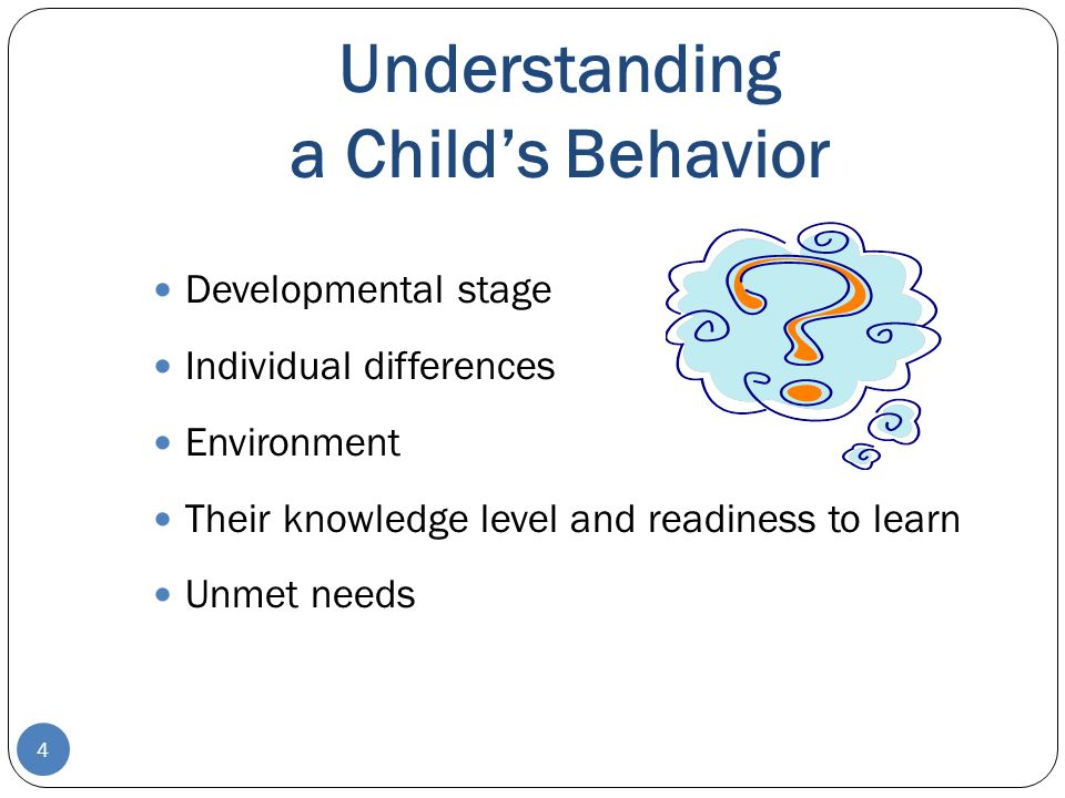 Understanding a Child's Behavior
