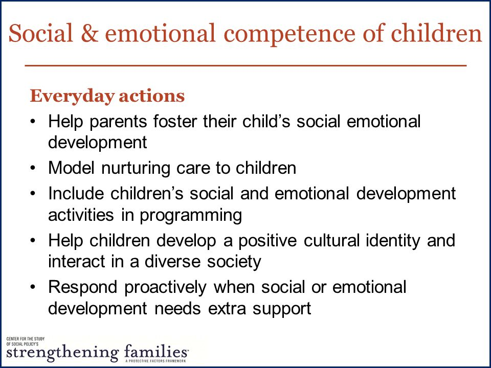 Social & emotional competence of children
