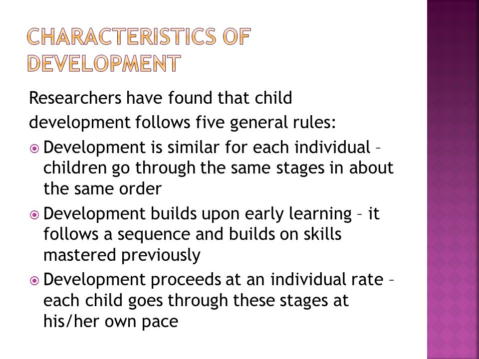 the sequence of developmental milestones proceeds as follows