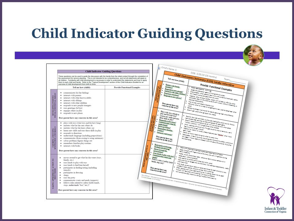Child Indicator Guiding Questions