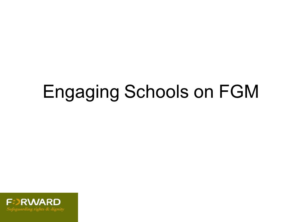 Engaging Schools on FGM