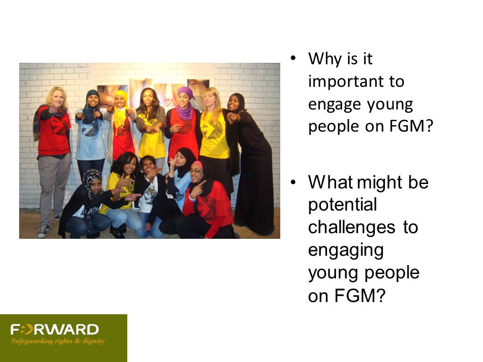 Why is it important to engage young people on FGM