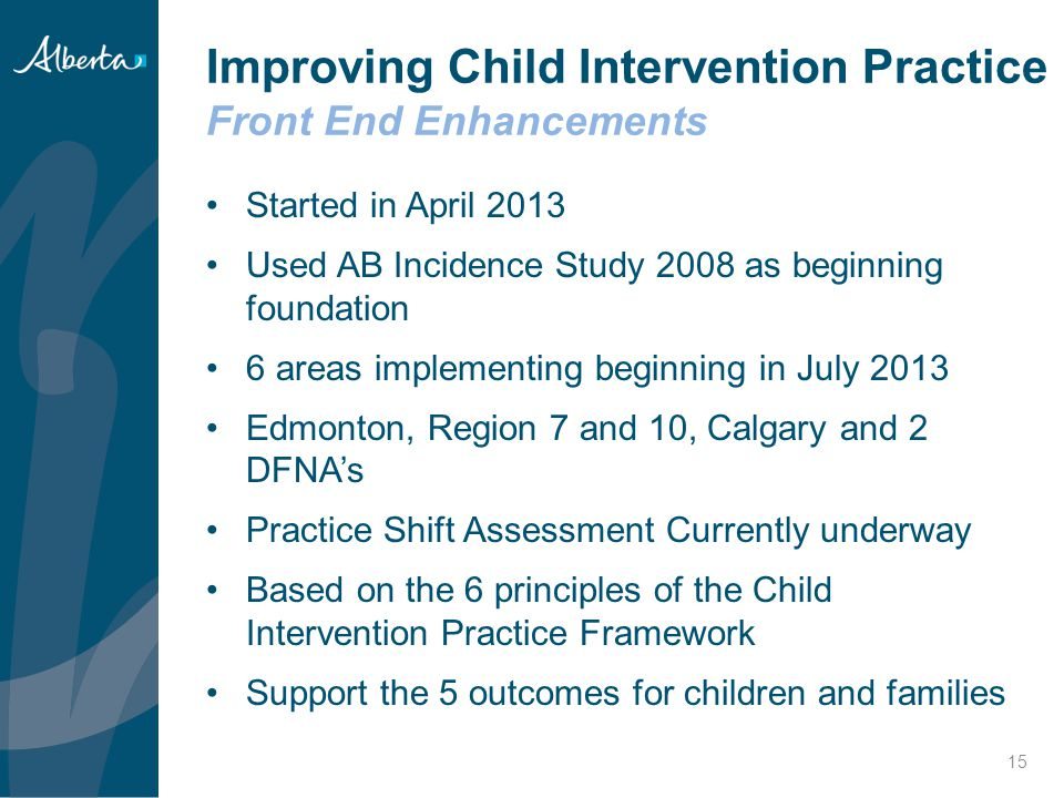 Improving Child Intervention Practice Front End Enhancements