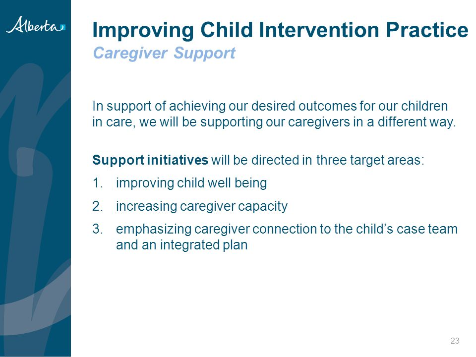 Improving Child Intervention Practice Caregiver Support