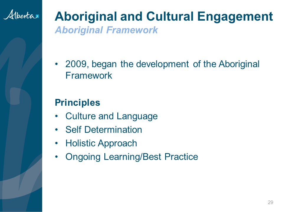 Aboriginal and Cultural Engagement Aboriginal Framework