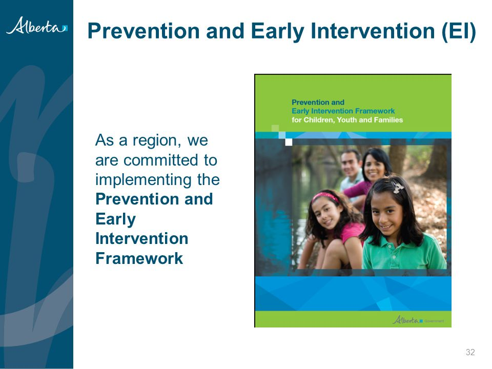 Prevention and Early Intervention (EI)