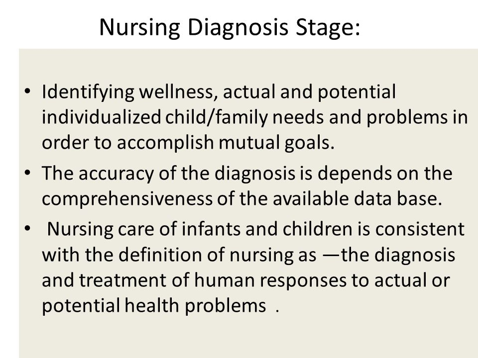 Nursing Diagnosis Stage: Stage: