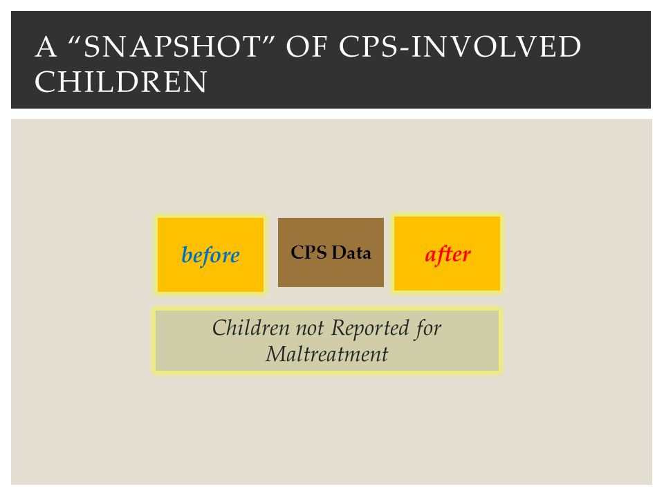 a snapshot of CPS-involved children